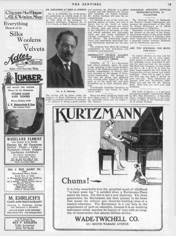 AZ Idelsohn 1924