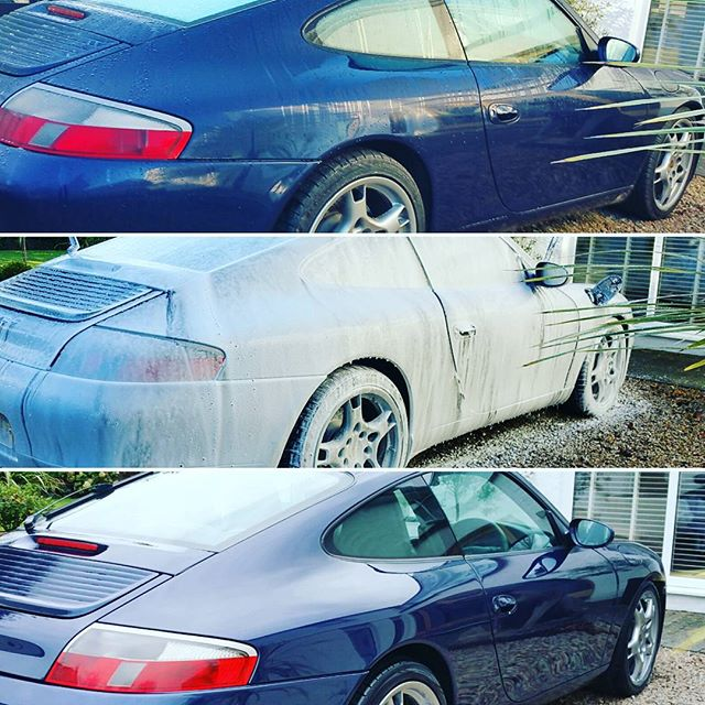 Porche 911_Valeted, light machine polish and protected