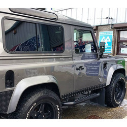 Gold valet completed on this #twisted #landrover over #mobilevaleting covering #mullion #falmouth #h