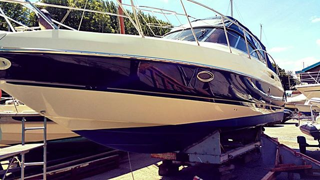 3 days later and she's all done_Washed, polished and protected _For more information about our boat