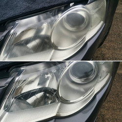 Gold valet and headlight restoration completed today www.northvaleting.co