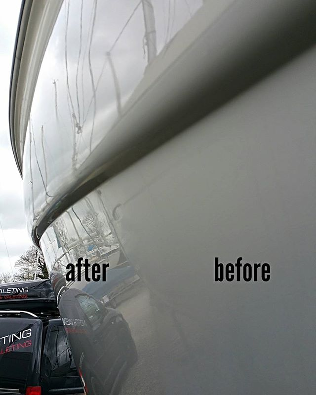 Todays work _Full exterior valet and machine polish. _Single stage polish then wax will be applied.