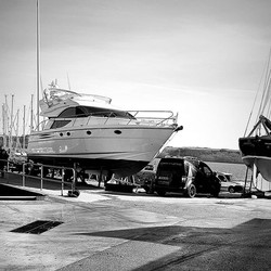 This week job. _Full wash down _Machine polish hull and top side. _Apply marine wax_www.boatvaleting
