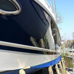 Ready for the summer fun _Pre season valet, hull polish and wax_#marinevaleting #boatvaleting #yacht