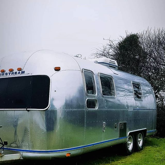 As caravans go this one is lovely. _#airstream #caravan #caravanvaleting #cornwall #valeting _www.no