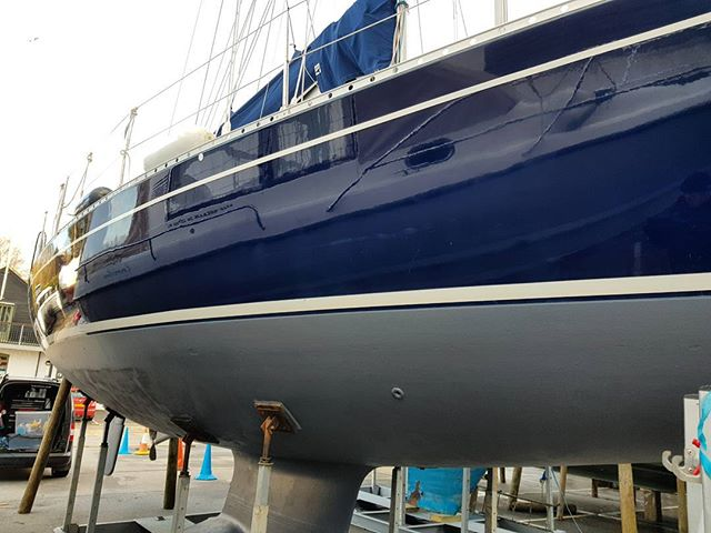 Looking better._This blue hull.has now been brought back.to life. This was a time limited job