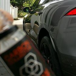 Jaguar f-pace having a coat of #carboncollective platinum paint coating