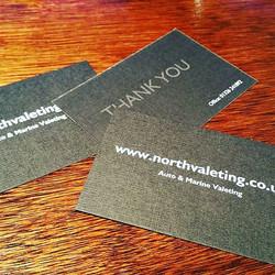 a #thankyou card after each valet