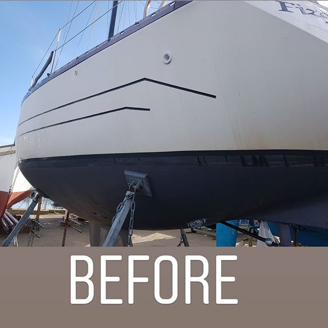 👉👉👉👉👉👉👉👉👉👉👉_Exterior valer and machine polish hull. _Ready for the season. _www.boatvalet