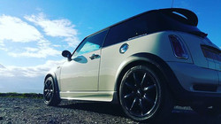 #wifescar looking nice and clean #mini #minicoopers #miniclub #valeting covering #cornwall #falmouth