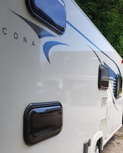 Touring caravan Interior and exterior va