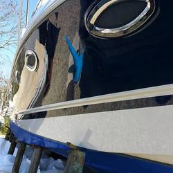 Ready for the summer fun _Pre season valet, hull polish and wax_#marinevaleting #marinedetailing #bo