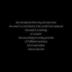 The Empty Promises