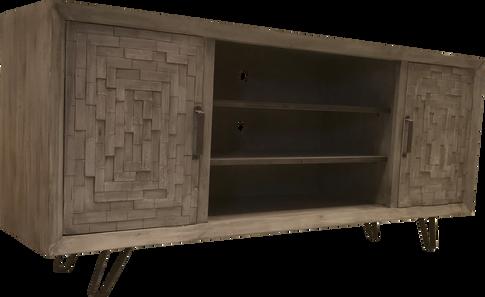 Loft TV Console w/ Parquet Doors