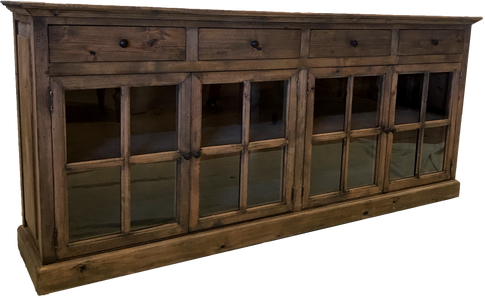 """Old Barn Buffet 91""""L 4 French Doors"""