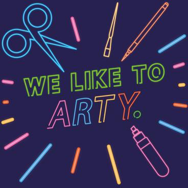 """We Like To Arty"" Logos"