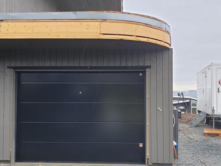 Garasjeport levert på Inderøy