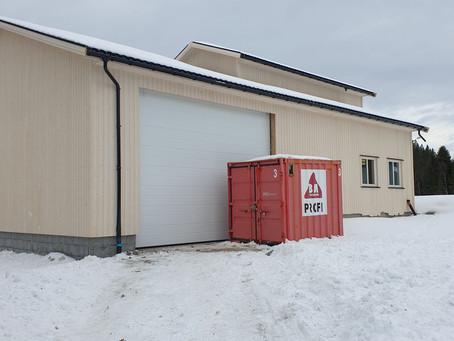 Industriport montert på Binde, Steinkjer
