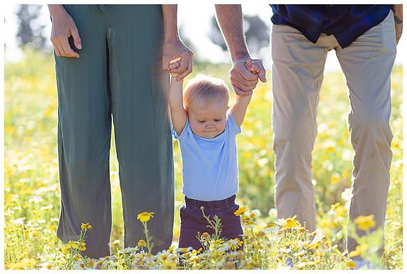 Family photo in San Diego wildflowers