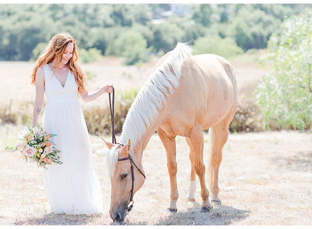 Southern California Bridal Session with her horse