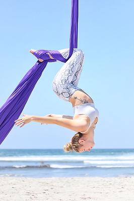 aerial silks at the beach