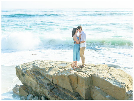 Sarina and Charlie's Windansea engagement session