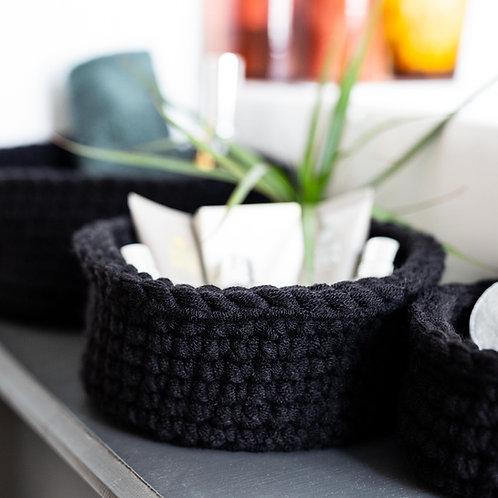 Three Storage Baskets - Round