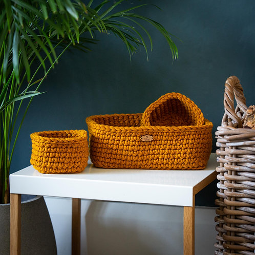 Three Storage Baskets - Rectangular