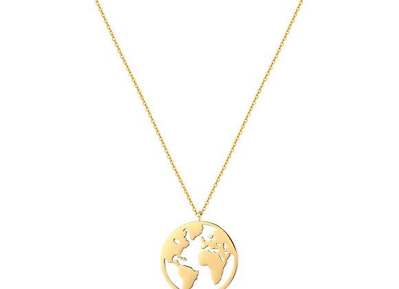 iCrush Kette My World, Edelstahl 18k Gelbgold vergoldet