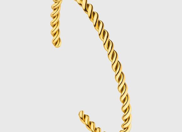 iCrush Armreif Braided, 316L Edelstahl, 18K vergoldet / silber