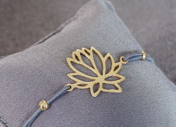 Elastisches Armband Lotus silber vergoldet