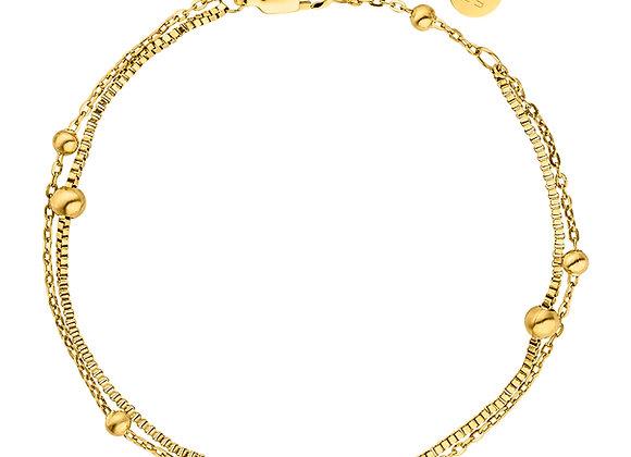 iCrush Armband Together, Edelstahl 18 K vergoldet