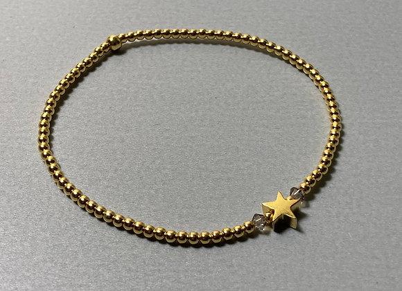 Silberperlen-Armband mit Stern