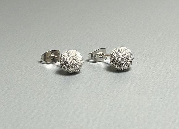 Ohrstecker Silberkugel klein