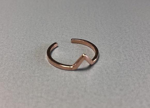 Fingerkuppenring edge Silber rosé vergoldet