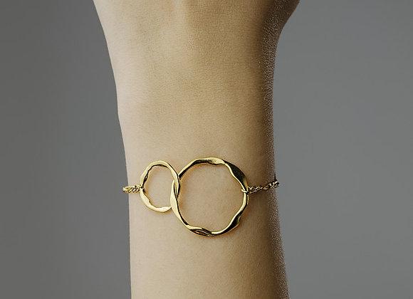 iCrush Armband Eternal Bond, Edelstahl 18 K vergoldet