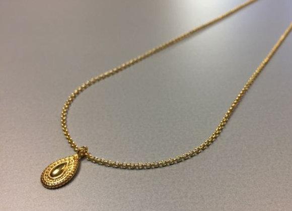 Halskette mit romantischem Anhänger Medallionstyle