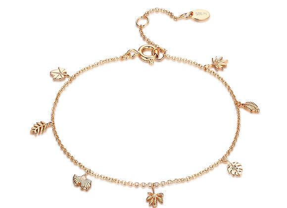 iCrush Armband Leafes 925er Sterlingsilber Roségold vergoldet