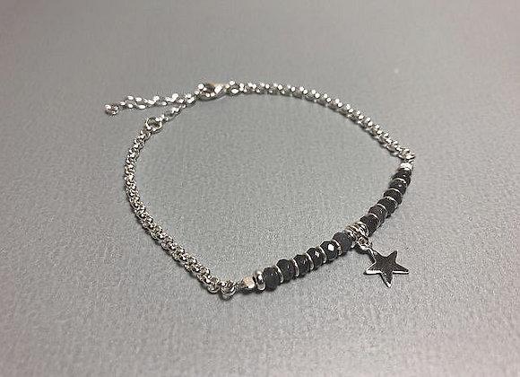Armband Silber /Vergoldet mit Achat und Stern