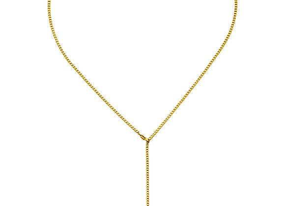 iCrush Kette Infinite Line, Edelstahl 18 K Gelbgold vergoldet