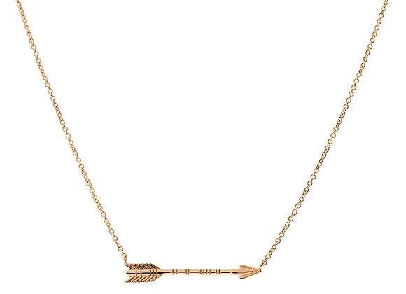 iCrush Kette Arrow 925er Sterlingsilber, Roségold vergoldet