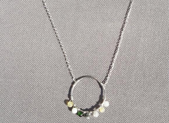 iCrush Kette Kranz mit Perlen, Edelstahl Silber