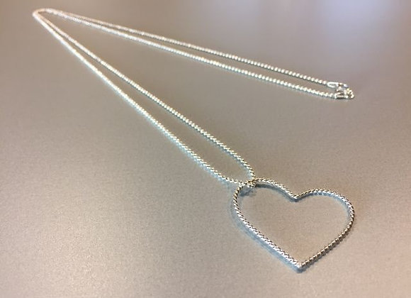 Lange Kugelkette mit Herz