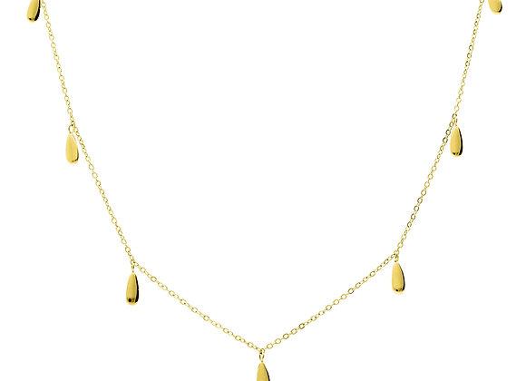 iCrush Kette Drop It, Edelstahl 18 K Gelbgold vergoldet