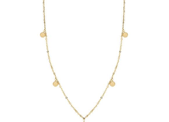iCrush Kette Moments, Edelstahl silber / 18 K Gelbgold vergoldet