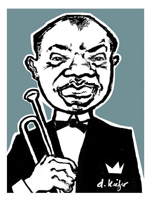 Louis Armstrong Art Print