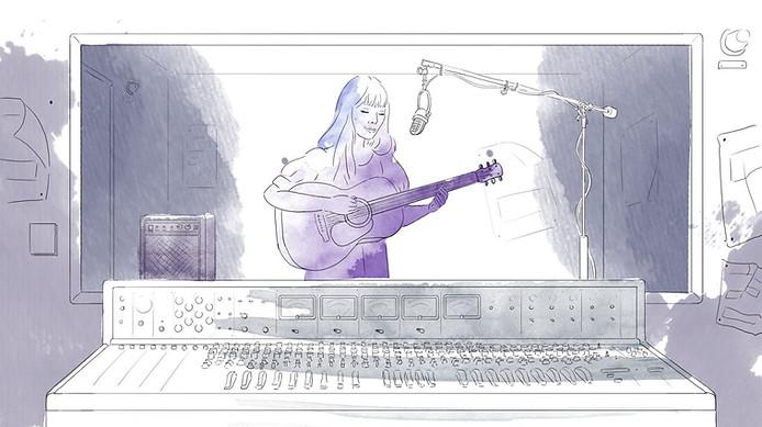 Joni Mitchell Hand Drawn Animation for Uncut Magazine 2018
