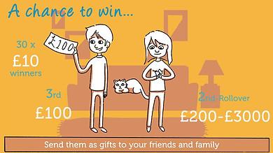 Rowcroft Hospice Lottery 2D Animation