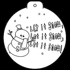 Bauble - Snowman