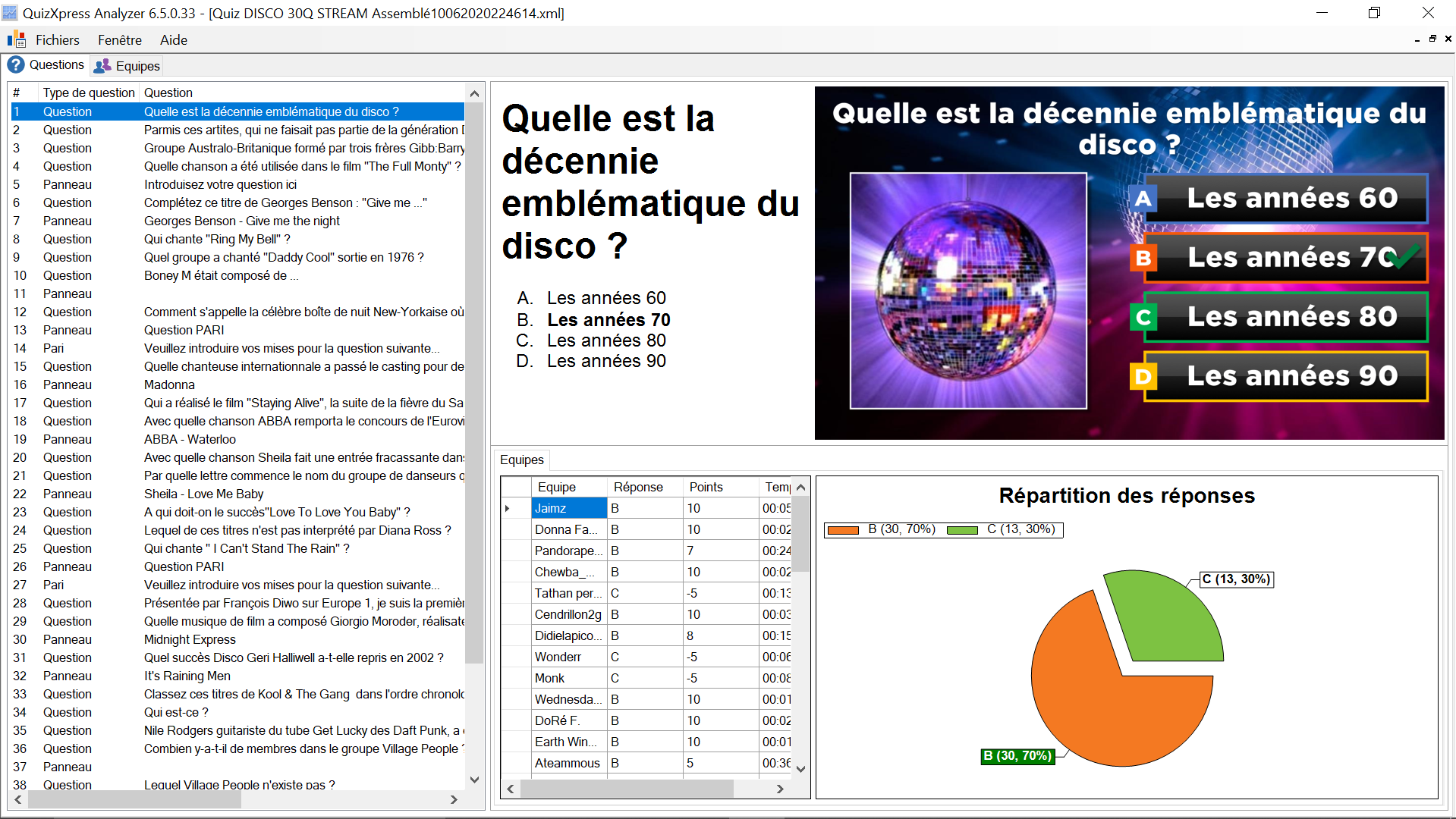 Quizxpress Analyser